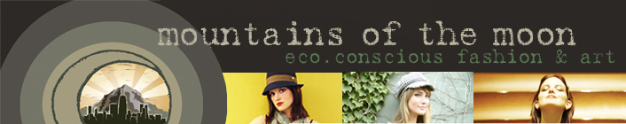 Eco friendly clothing, art and gifts: Mountains of the Moon